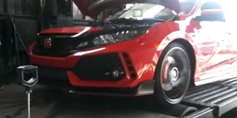 Land vehicle, Vehicle, Car, Auto show, Honda, Bumper, Sports car, Automotive design, Honda civic type r, Supercar,