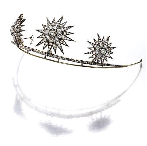 Starburst tiara, diamond, jewelry