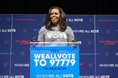 Former First Lady Michelle Obama talks voting in the midterms