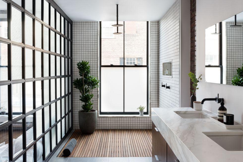 Modern interior design bathroom Small Space Modern Bathroom Ideas Elle Decor 25 Best Modern Bathrooms Luxe Bathroom Ideas With Modern Design
