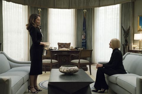 Robin Wright and Diane Lane in House of Cards