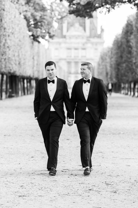 Photograph, People, Black, Suit, Black-and-white, Standing, Formal wear, Snapshot, Monochrome photography, Monochrome,