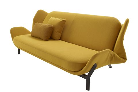 Furniture, Couch, Yellow, Sofa bed, studio couch, Outdoor sofa, Beige, Comfort, Outdoor furniture, Loveseat,