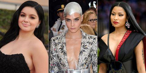 Hair, Eyebrow, Lip, Nose, Hairstyle, Beauty, Fashion model, Skin, Fashion, Blond,