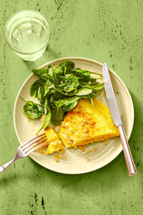 classic omelet and greens