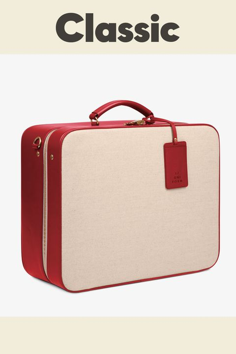 Bag, Red, Handbag, Hand luggage, Luggage and bags, Business bag, Beige, Baggage, Fashion accessory, Briefcase,
