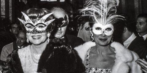 Claudette Colbert At Truman Capote BW Ball