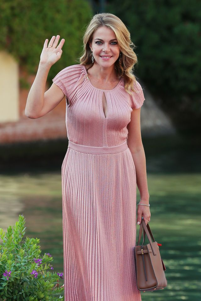 venice, italy   september 08 claudia gerini is seen arriving at the excelsior during the 77th venice film festival on september 08, 2020 in venice, italy photo by ernesto rusciogetty images