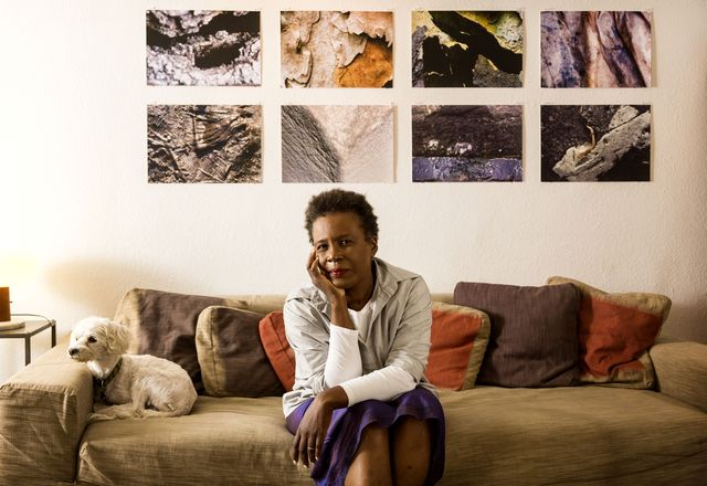 claremont, ca   september 26, 2014   poet claudia rankine and dog sammy at her home, september 26, 2014  photo by ricardo dearatanhalos angeles times via getty images