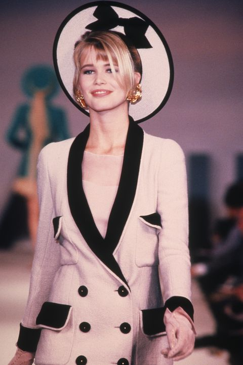 claudia schiffer's first chanel show
