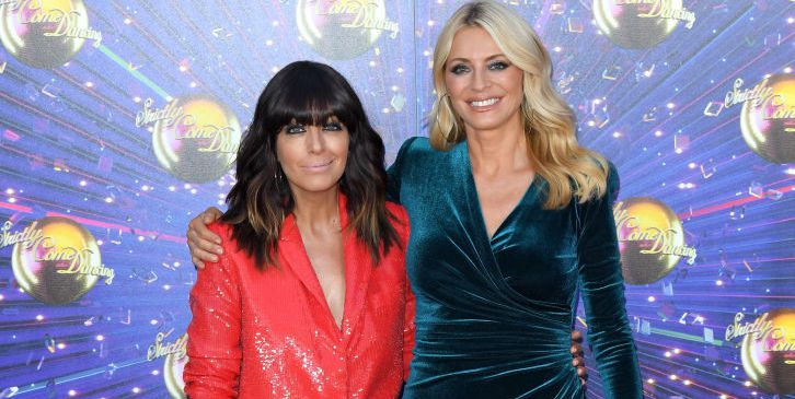 Claudia Winkleman and Tess Daly reunite for socially distanced Strictly filming