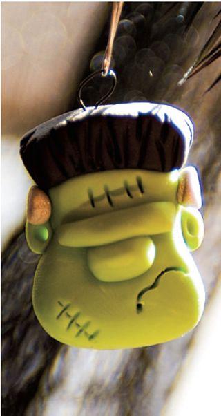 Frankenstein Clay Decoration