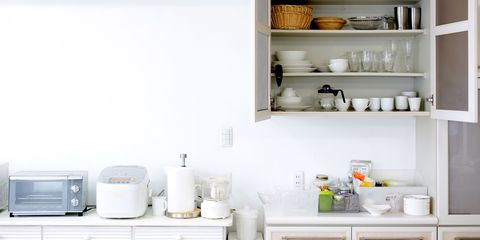 Shelf, White, Room, Product, Furniture, Shelving, Material property, Cabinetry, Small appliance, Interior design,