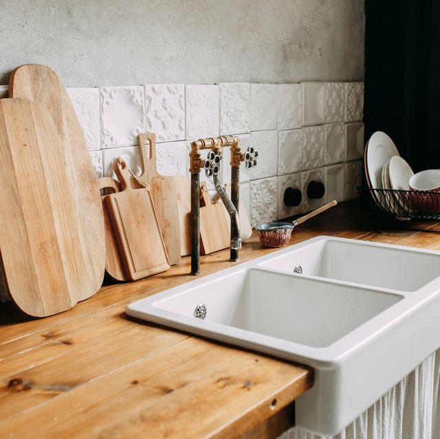 kitchen accessories and utensils, interior of kitchen at home
