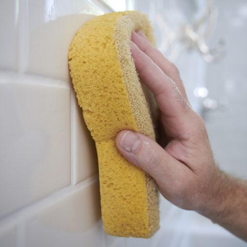 Cleaning Bathroom Grout, Toronto, Ontario, Canada
