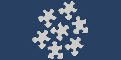 Clear puzzle pieces