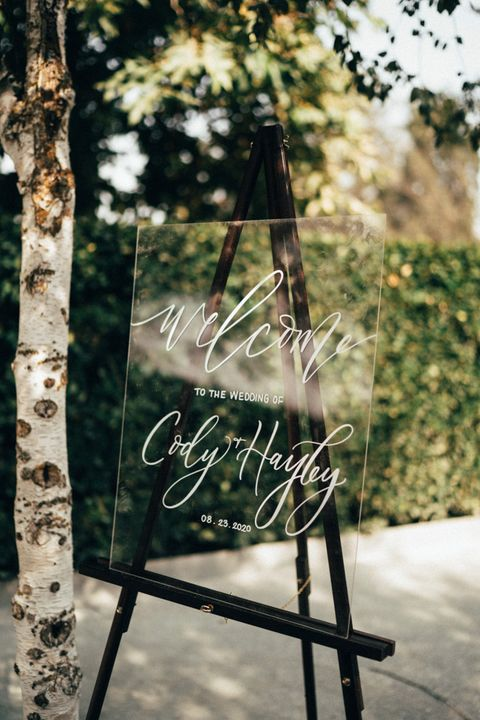 clear welcome sign fall wedding ideas