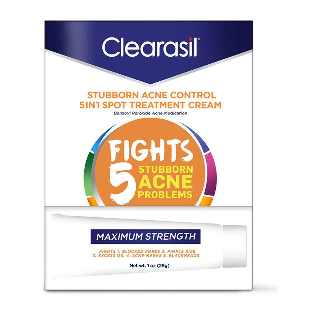 Clearasil Stubborn Acne Control 5 in 1 Spot Treatment Cream