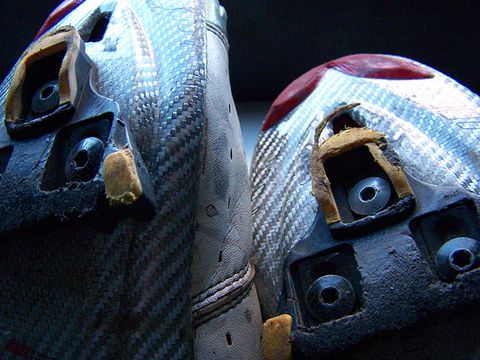 Bicycle shoe cleats.