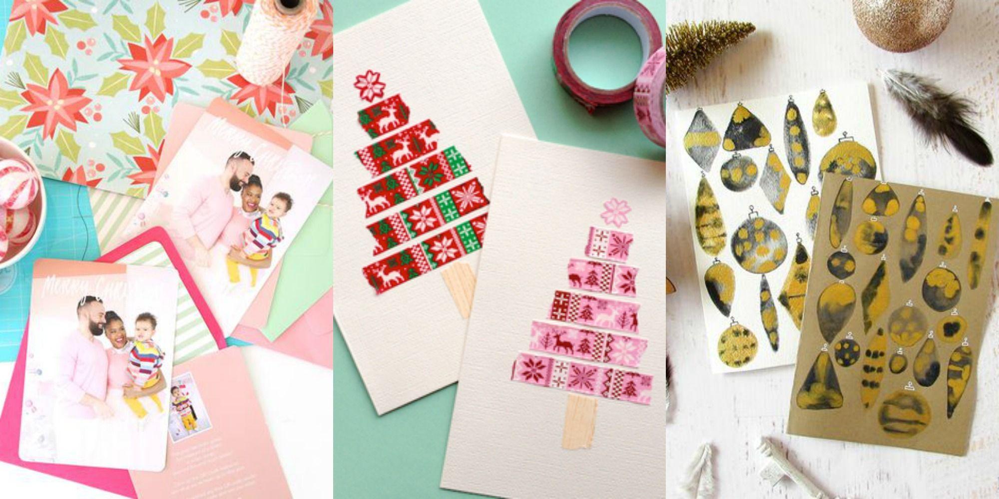 36 Diy Christmas Cards How To Make Homemade Holiday Cards