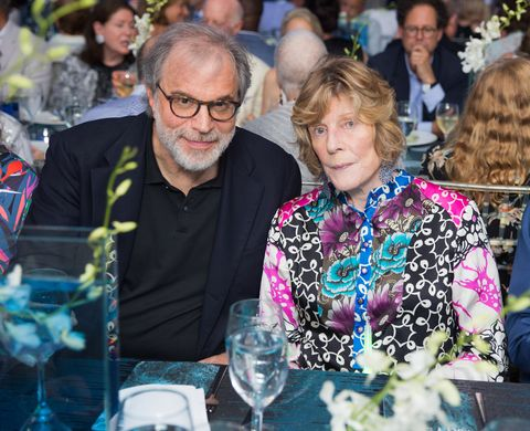 Clifford Ross and Agnes Gund at Parrish Art Museum's Midsummer Party, July 2017.