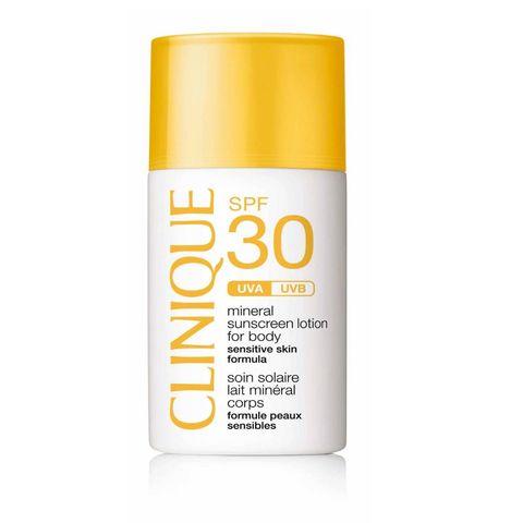 clinique zonnebrand spf 30 voor het gevoelige lichaam