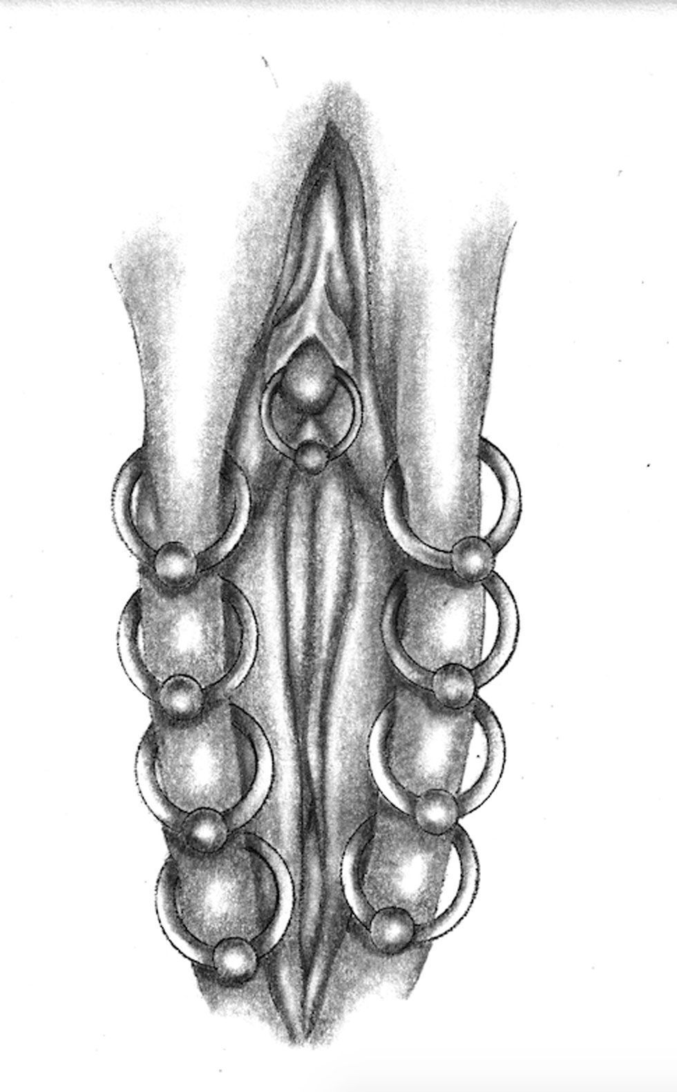 Picture of a clit piercing