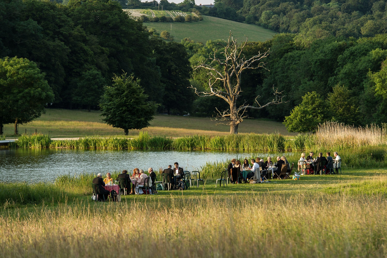 Picnicking at Garsington Opera, Wormsley