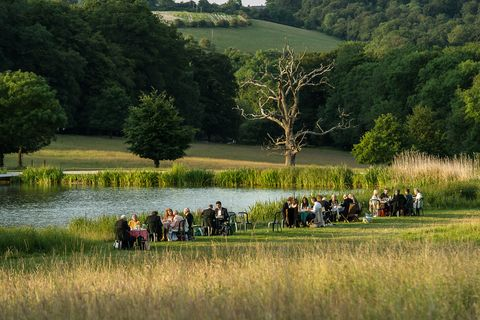 Picnicking at Garsington Opera, Wormsley