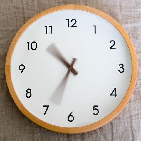 Clock going