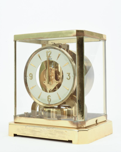 gold desk clock