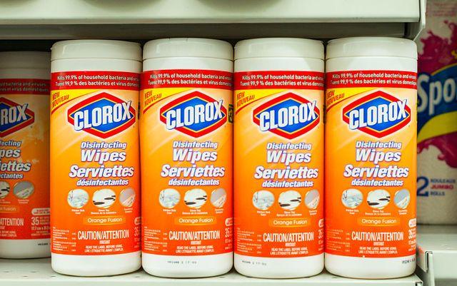 clorox wipes in store shelf  the clorox company