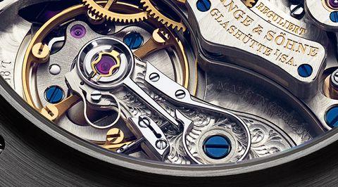 A Lange & Sohne Datograph Perpetual balance detail