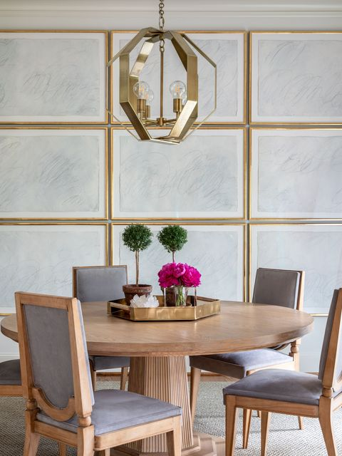 Room, Furniture, Dining room, Interior design, Table, Wall, Chair, Home, Floor, Ceiling,