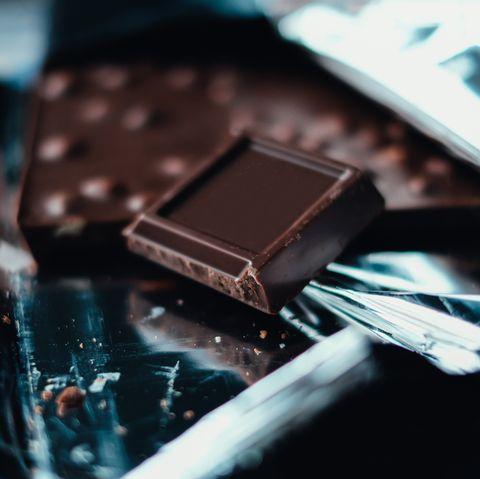 close up if dark chocolate