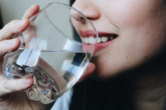 drinking water at home