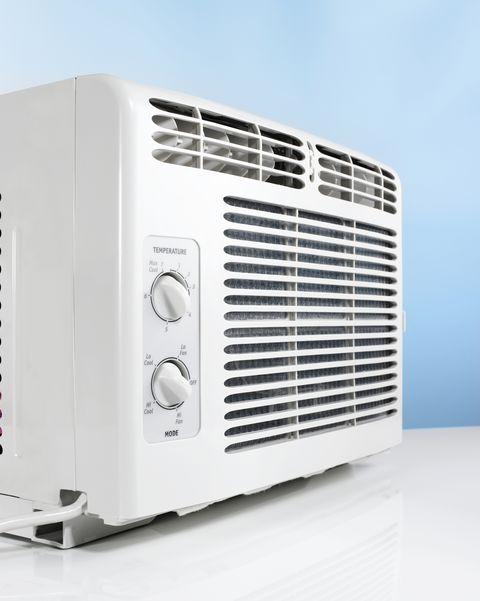 Close up of air conditioner, Studio shot.