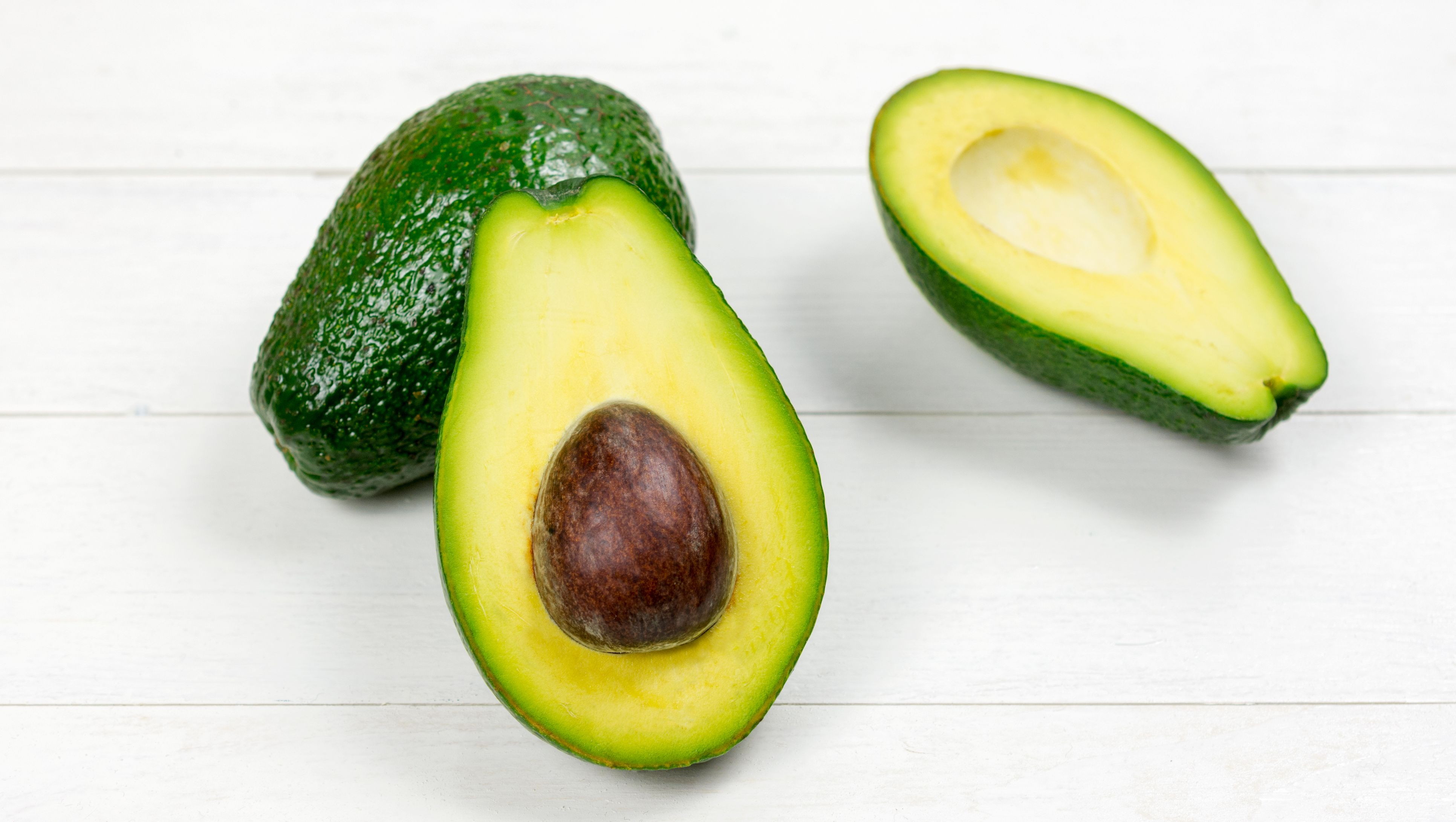 Close-Up Of Avocado On Table