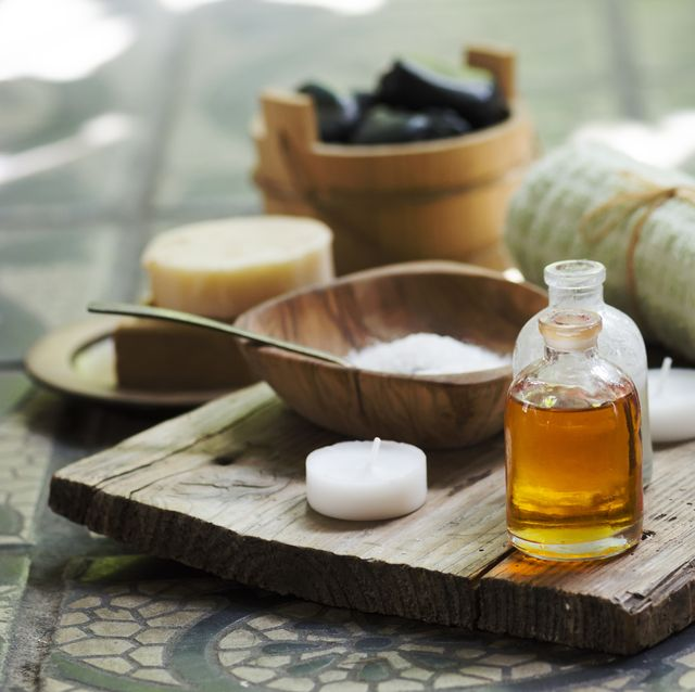 Close-Up Of Beauty Treatment Equipment On Table