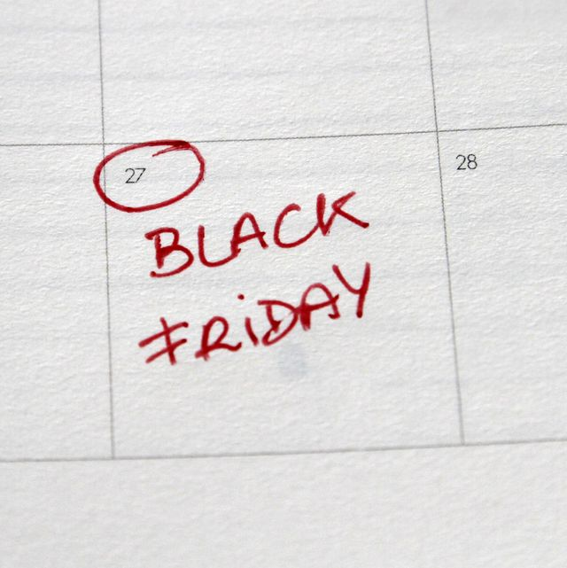 close up of black friday day written on calendar