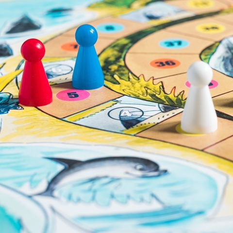 close up of board game