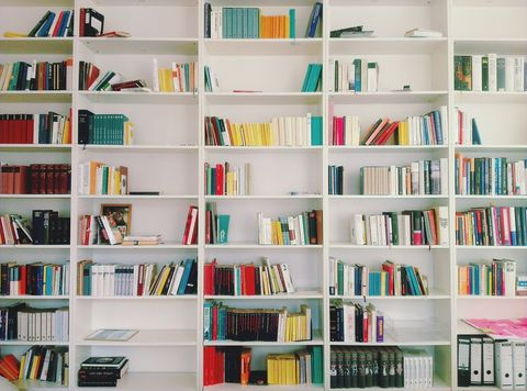 Close-up of book shelf