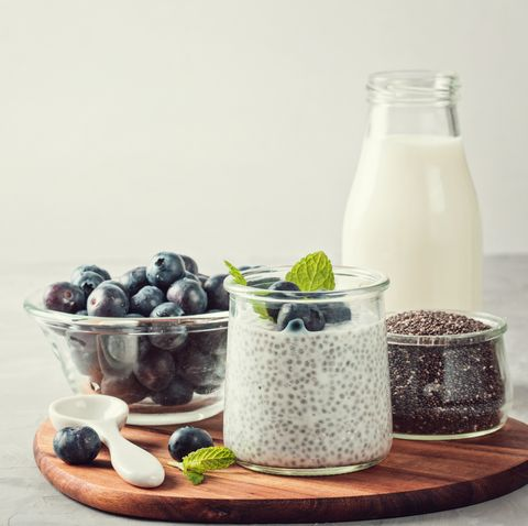 close up of breakfast on table against white background