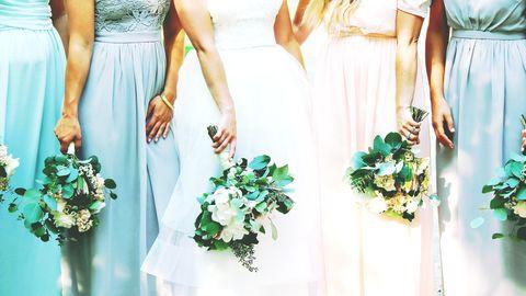 Close-Up Of Bride And Bridesmaids