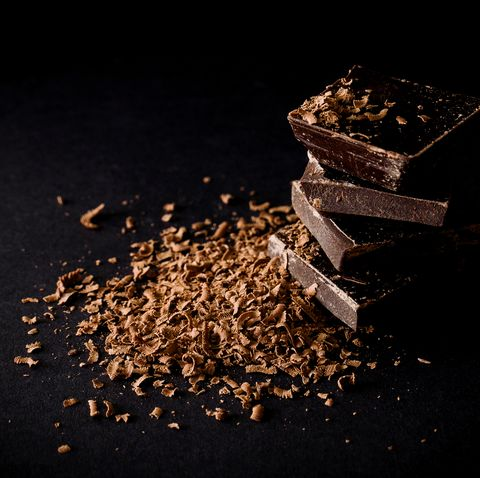 Close-Up Of Chocolate On Black Background