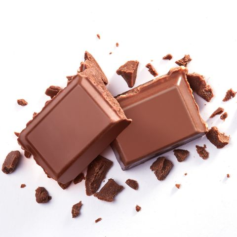 Close-Up Of Chocolate Over White Background