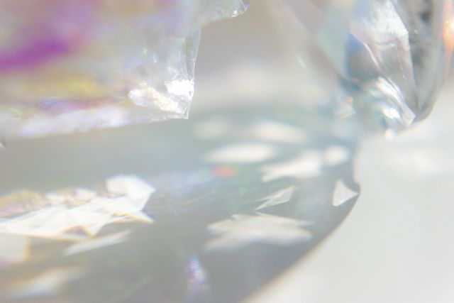 close up of crystal