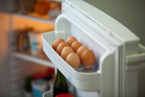 Close-Up Of Food In Refrigerator