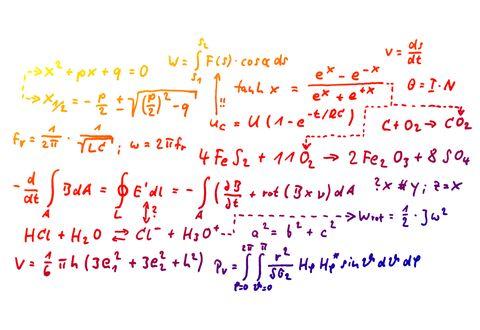 Close-Up Of Mathematics Solution