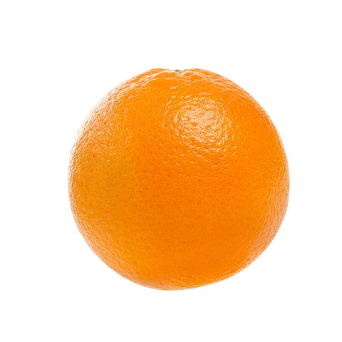 close up of orange against white background